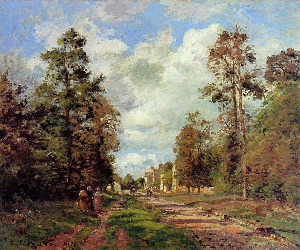 The Road to Louveciennes at the Outskirts of the Forest - Camille Pissarro