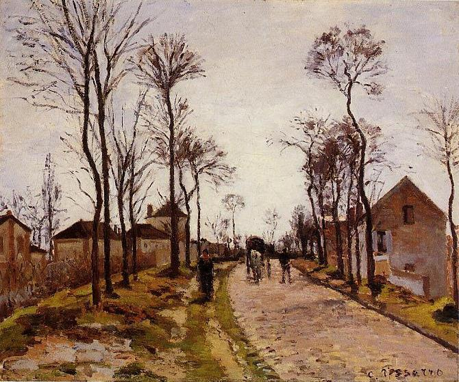 The Road to Saint Cyr at Louveciennes - Camille Pissarro
