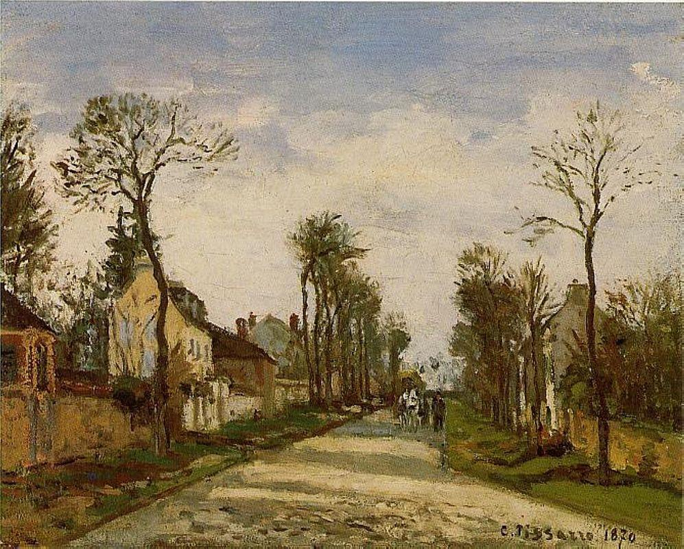 The Road to Versailles at Louveciennes - Camille Pissarro