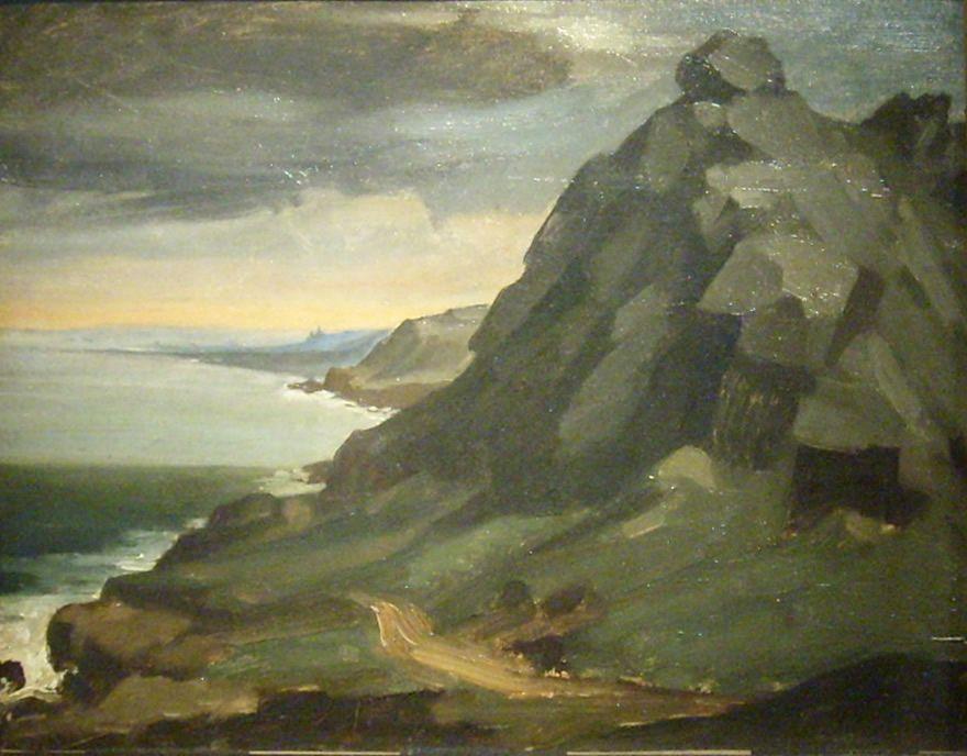 The rock of Castel Vendon - Jean-Francois Millet