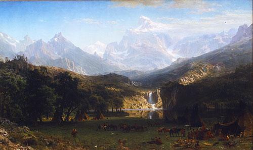 The Rocky Mountains, Lander's Peak - Albert Bierstadt