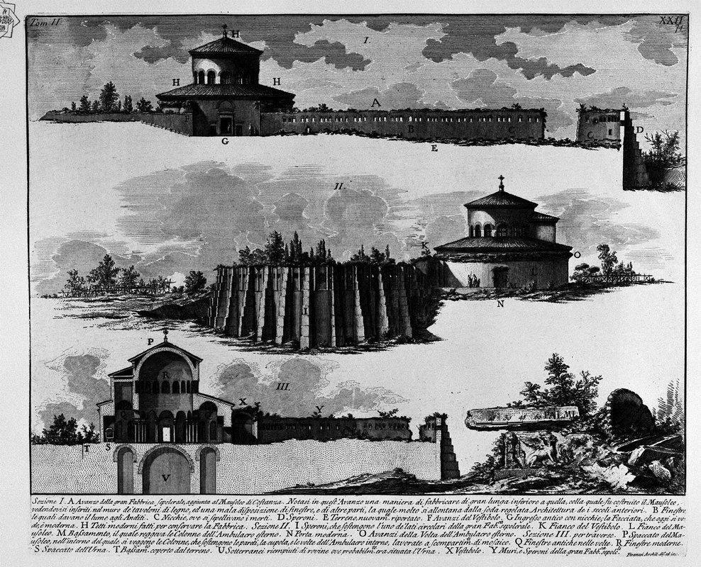 The Roman antiquities, t. 2, Plate XXII. Plan of the Mausoleum of Constance. - Giovanni Battista Piranesi