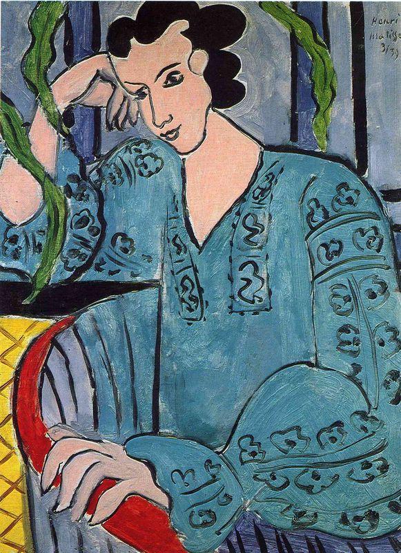 The Romanian Green Bluse - Henri Matisse