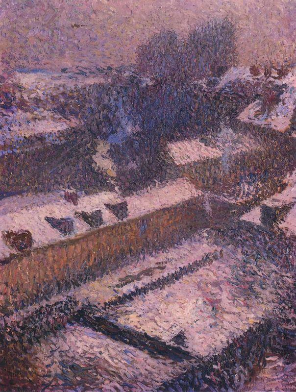 The Roofs of Paris in Snow - Henri Martin