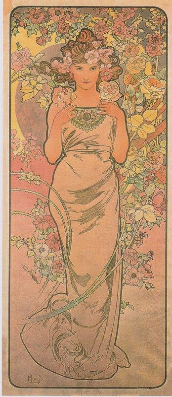 The rose - Alphonse Mucha