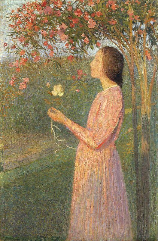 The Rose Robe - Henri Martin