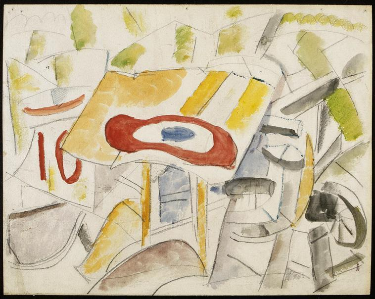The Roundel, the plane smashed - Fernand Leger