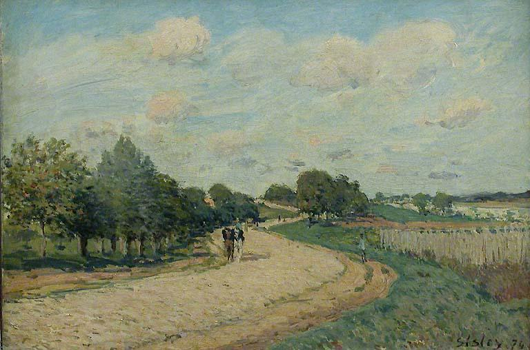 The Route to Mantes - Alfred Sisley