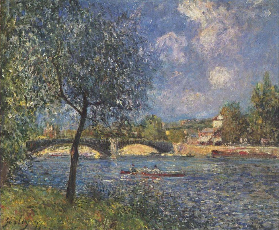 The Rowers - Alfred Sisley