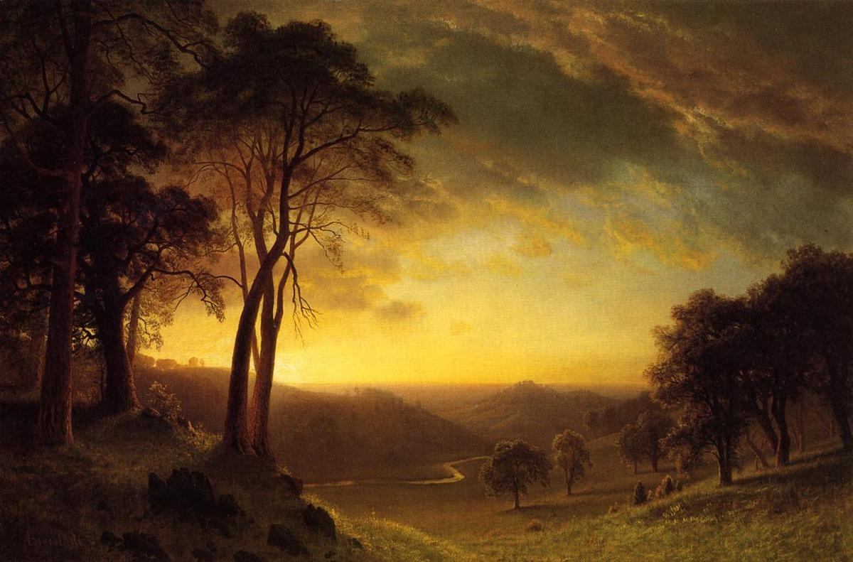 The Sacramento River Valley  - Albert Bierstadt
