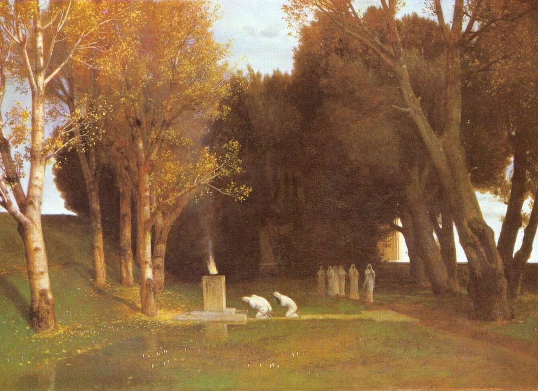 The sacred Grove - Arnold Bocklin