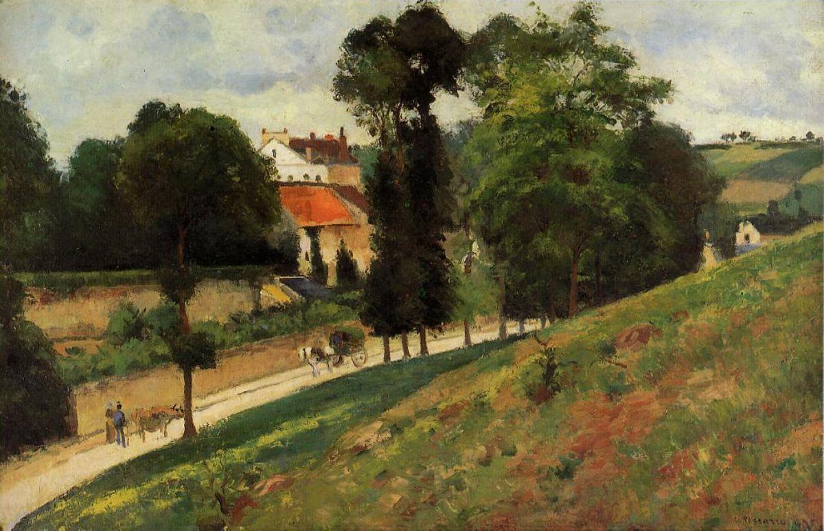 The Saint Antoine Road at l'Hermitage, Pontoise - Camille Pissarro