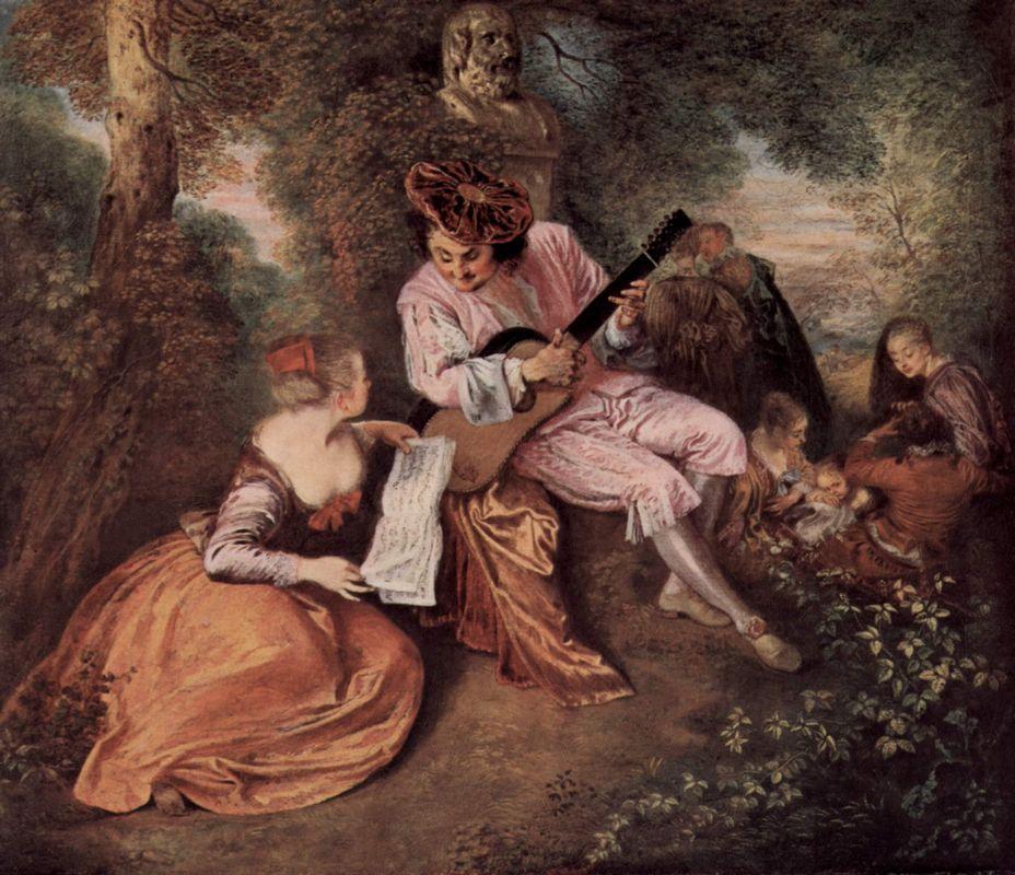 The Scale of Love - Antoine Watteau