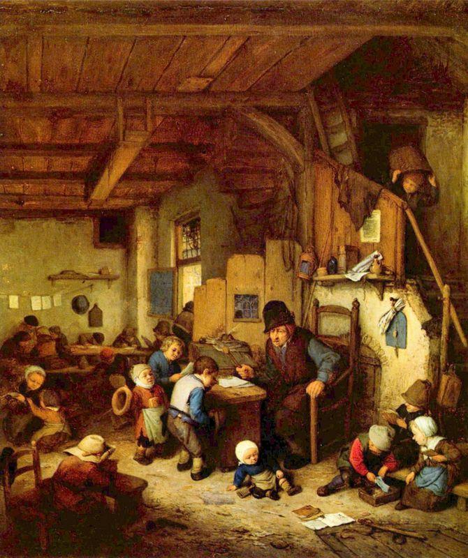 The Schoolmaster - Adriaen van Ostade