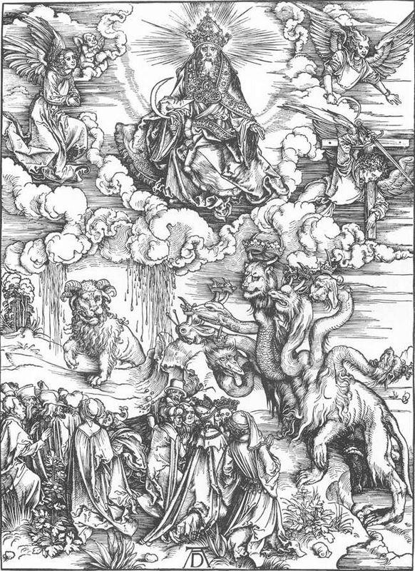The Sea Monster and the Beast with the Lamb s Horn - Albrecht Durer