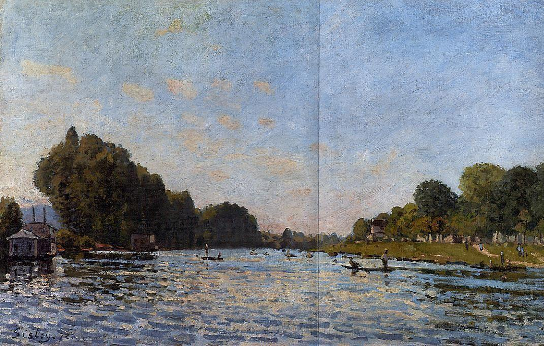 The Seine at Bougival - Alfred Sisley