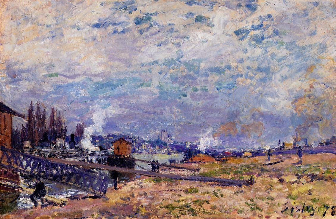 The Seine at Grenelle - Alfred Sisley
