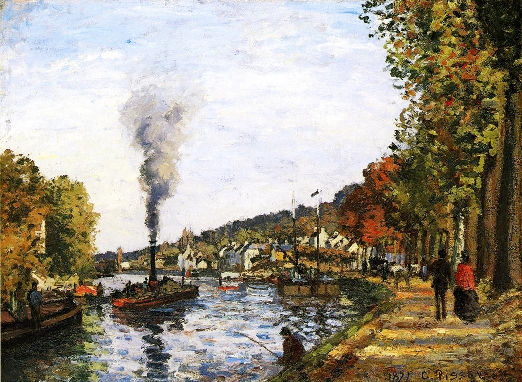 The Seine at Marly - Camille Pissarro