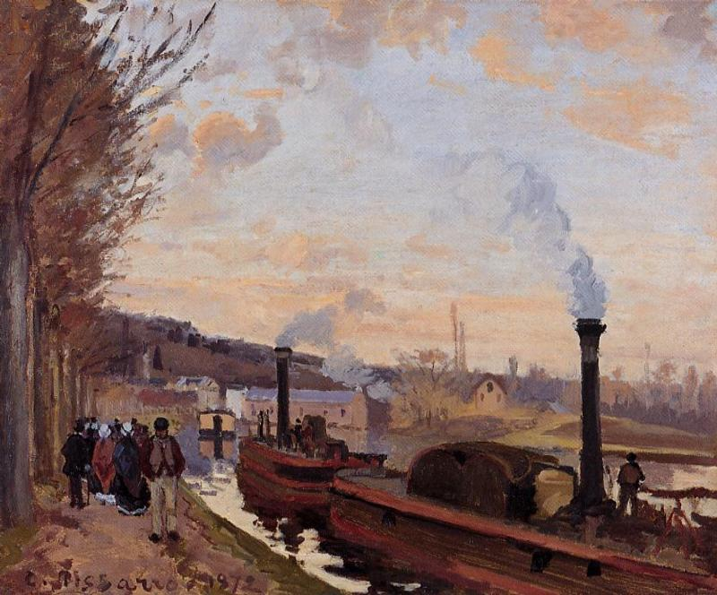 The Seine at Port Marly - Camille Pissarro