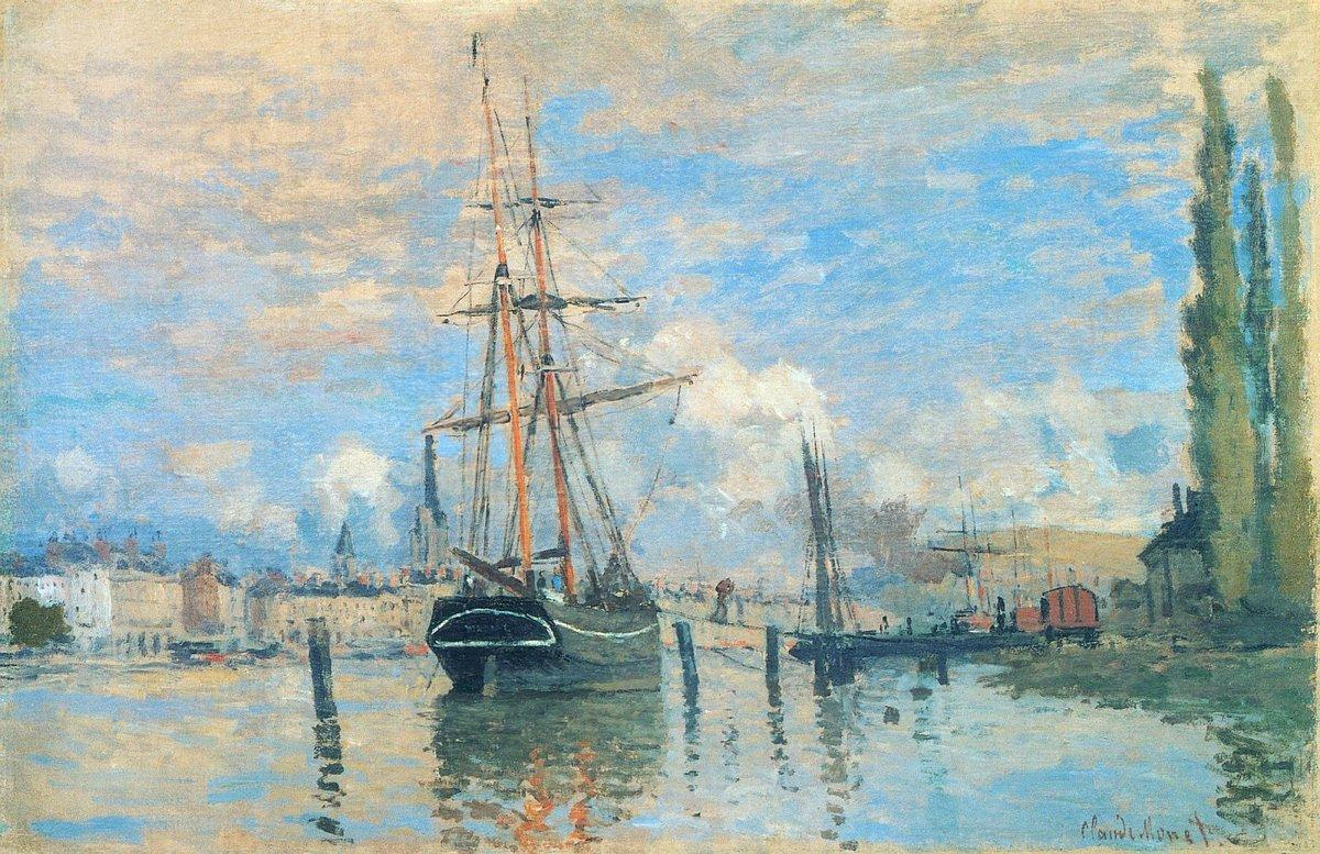 The Seine at Rouen - Claude Monet