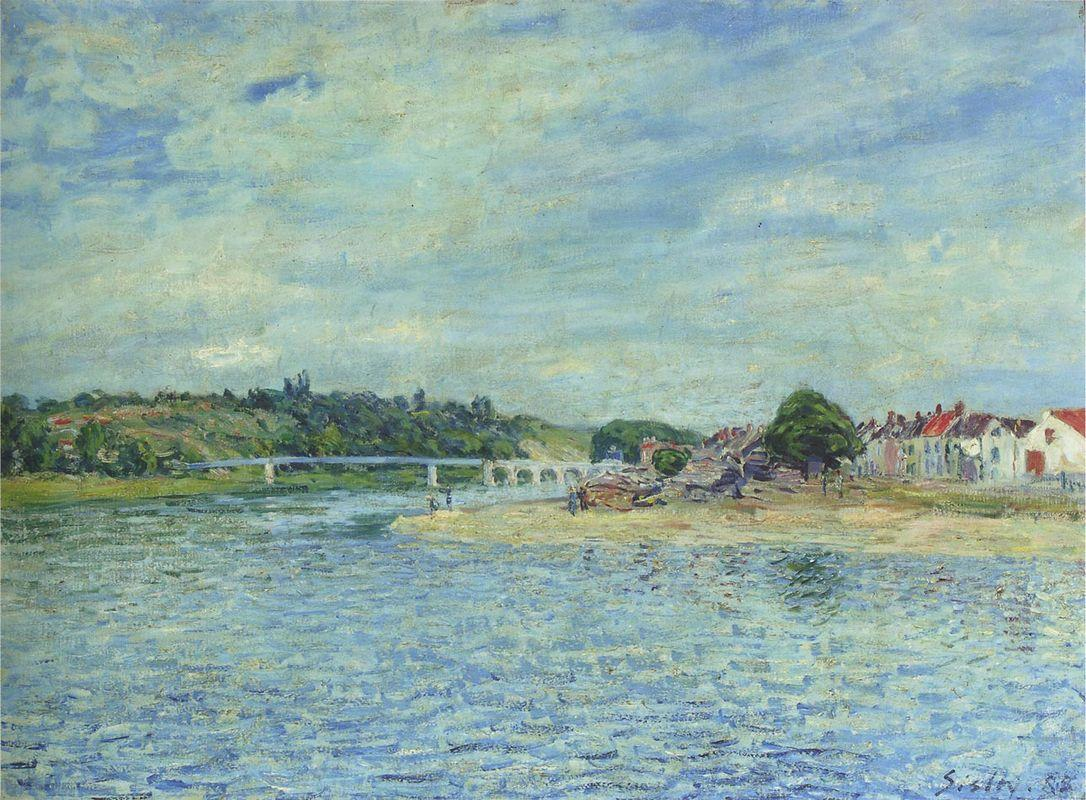 The Seine at Saint Mammes - Alfred Sisley