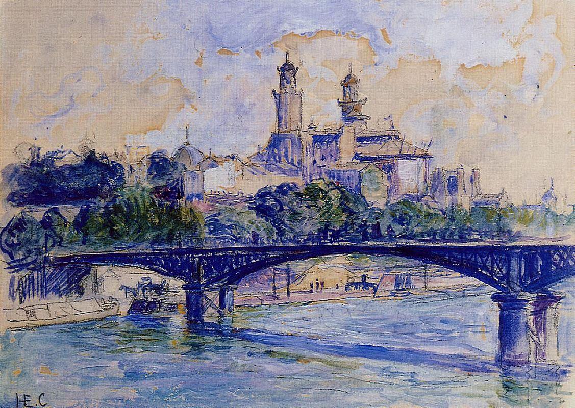 The Seine by the Trocadero - Henri-Edmond Cross