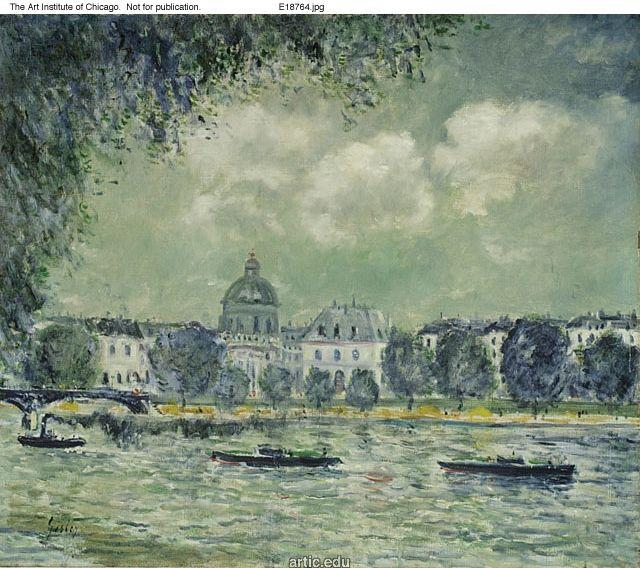 The Seine with the Institute of France - Alfred Sisley