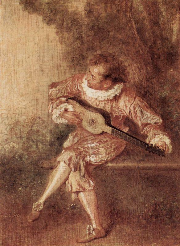 The Serenader - Antoine Watteau