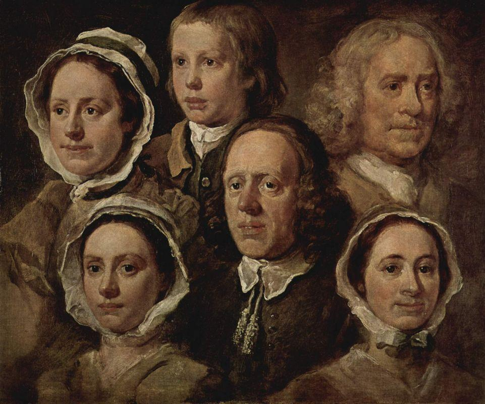 The servants of the painter - William Hogarth