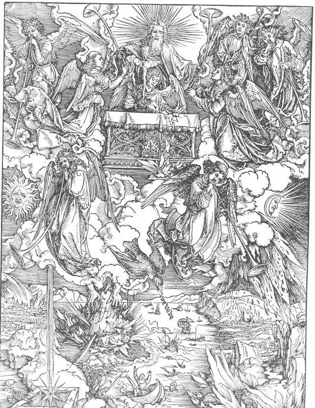 The Seven Trumpets Are Given to the Angels - Albrecht Durer