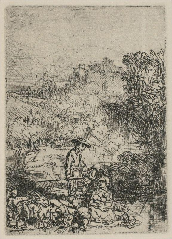 The Shepards in the Woods - Rembrandt