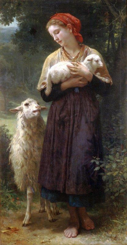The Shepherdess - William-Adolphe Bouguereau