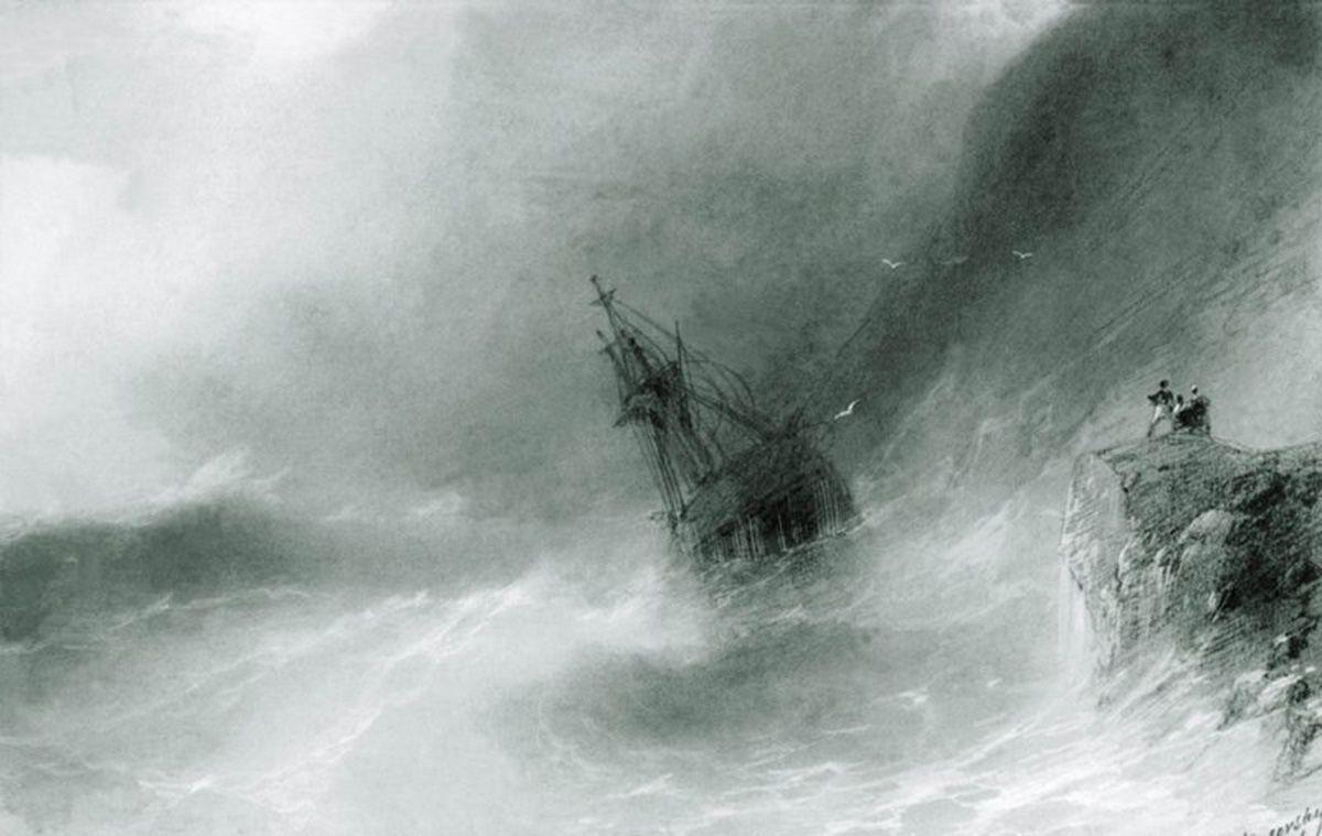 The ship thrown on the rocks  - Ivan Aivazovsky