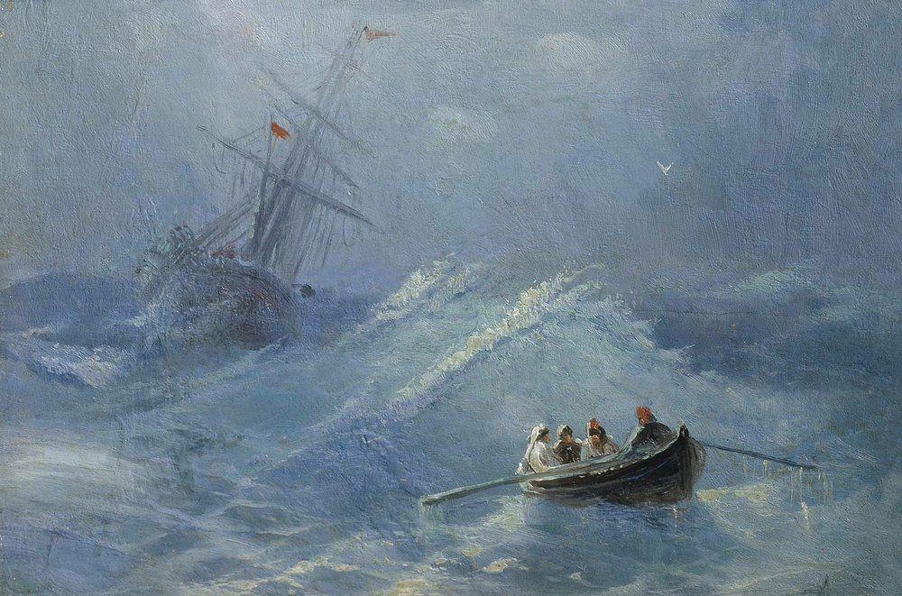 The Shipwreck in a stormy sea - Ivan Aivazovsky