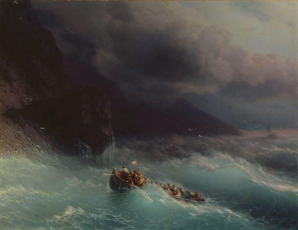 The Shipwreck on Black Sea - Ivan Aivazovsky