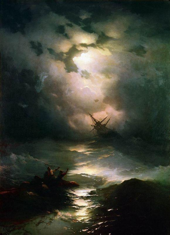 The Shipwreck on Northern sea    - Ivan Aivazovsky