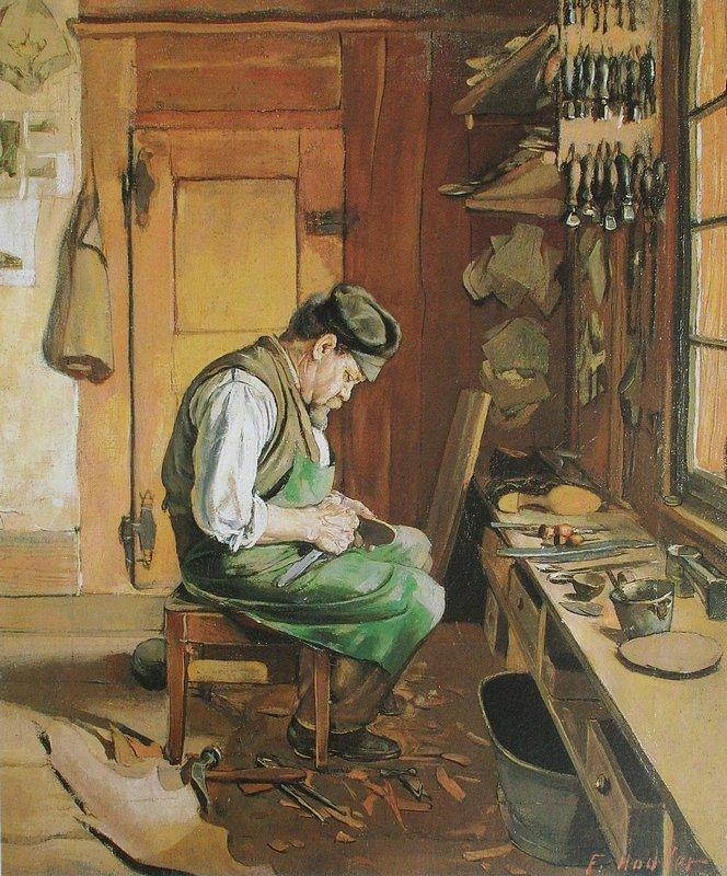 The shoemaker - Ferdinand Hodler