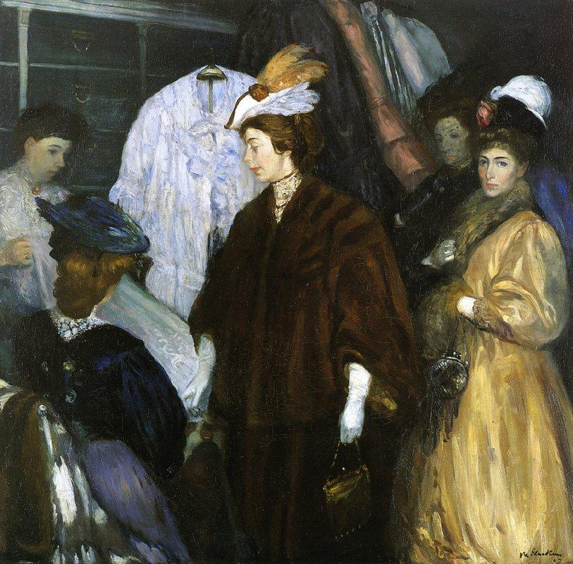 The Shoppers - William James Glackens