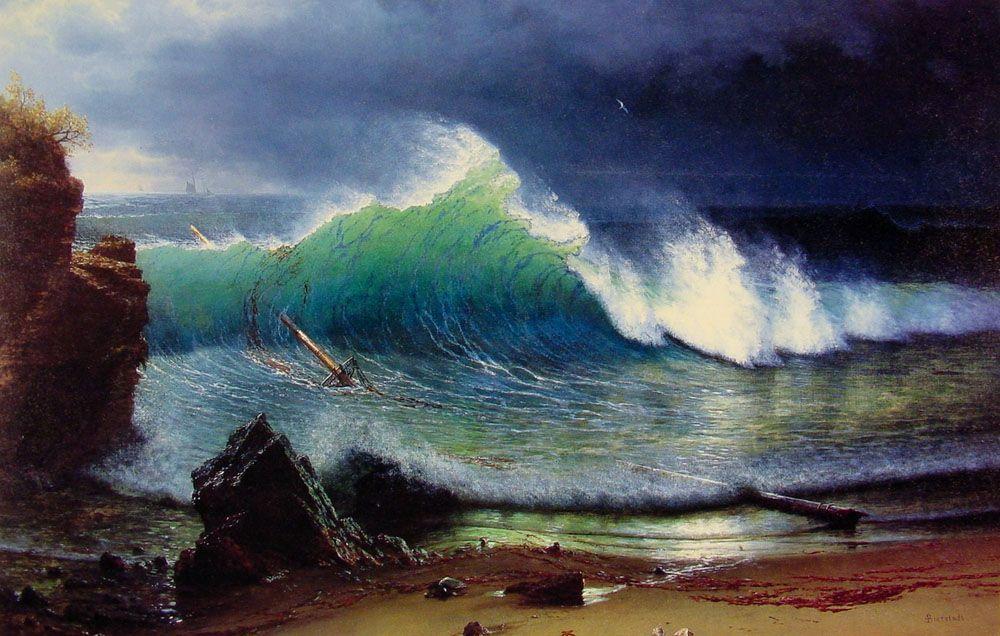 The Shore of the Turquoise Sea - Albert Bierstadt