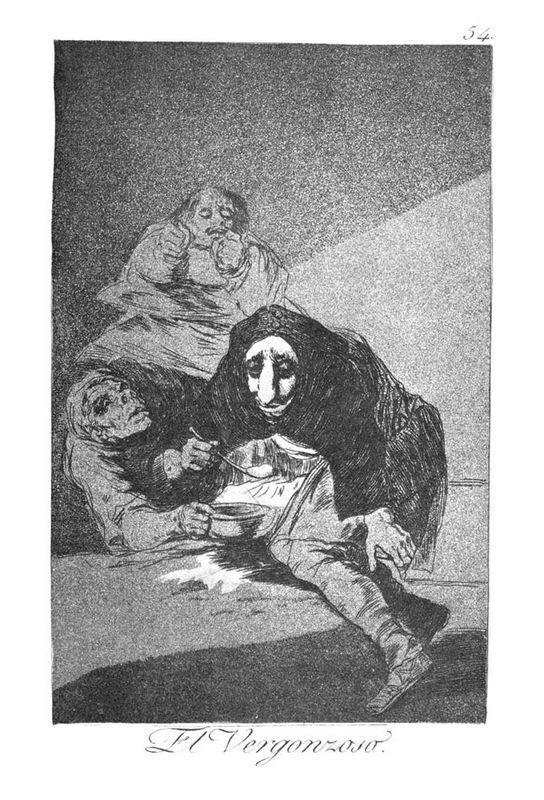 The shy man - Francisco Goya