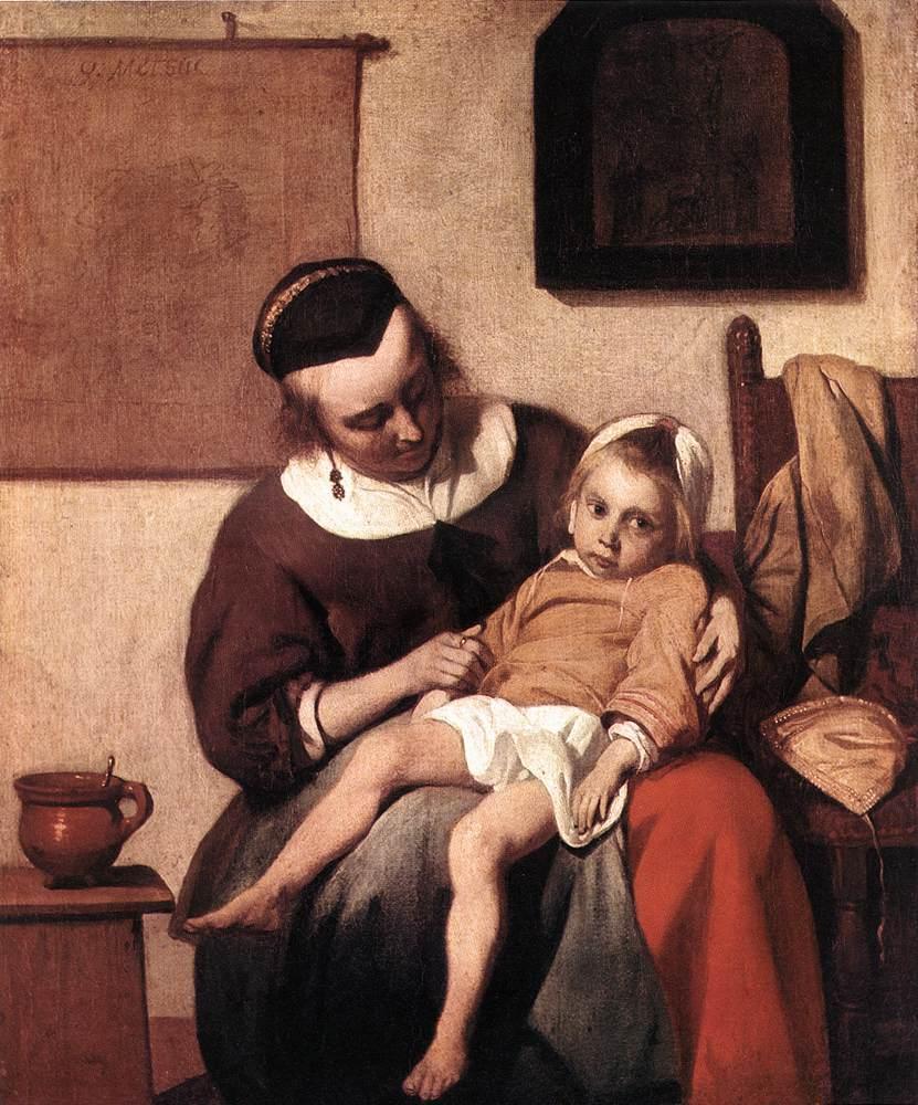 The Sick Child - Gabriel Metsu