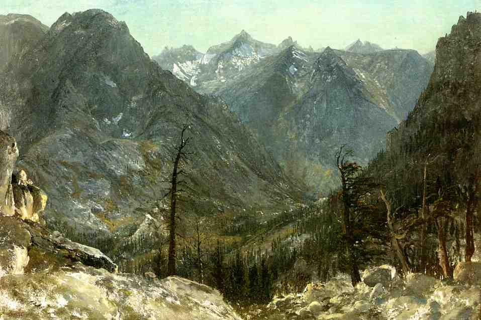The Sierra Nevadas - Albert Bierstadt