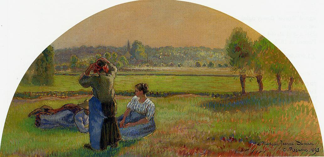 The Siesin the Fields - Camille Pissarro
