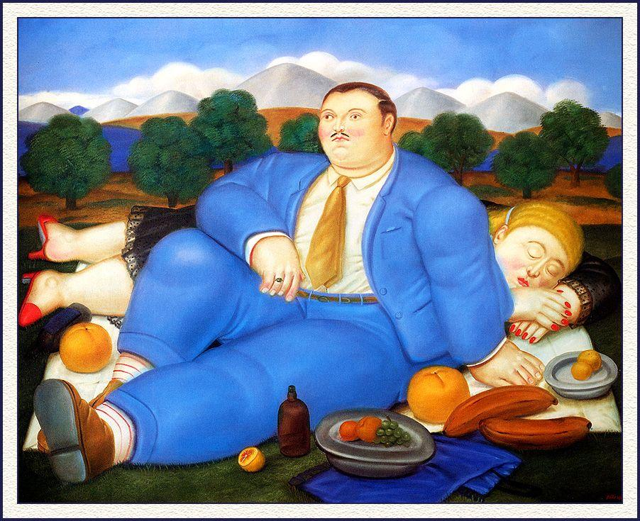 The Siesta - Fernando Botero