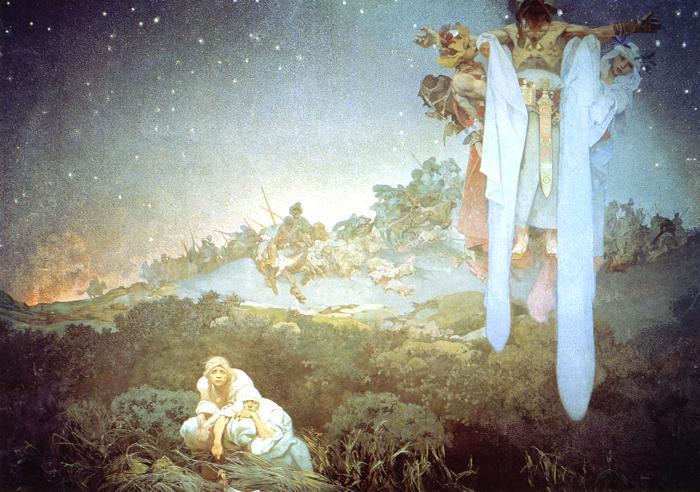 The Slavs in Their Original Homeland - Alphonse Mucha