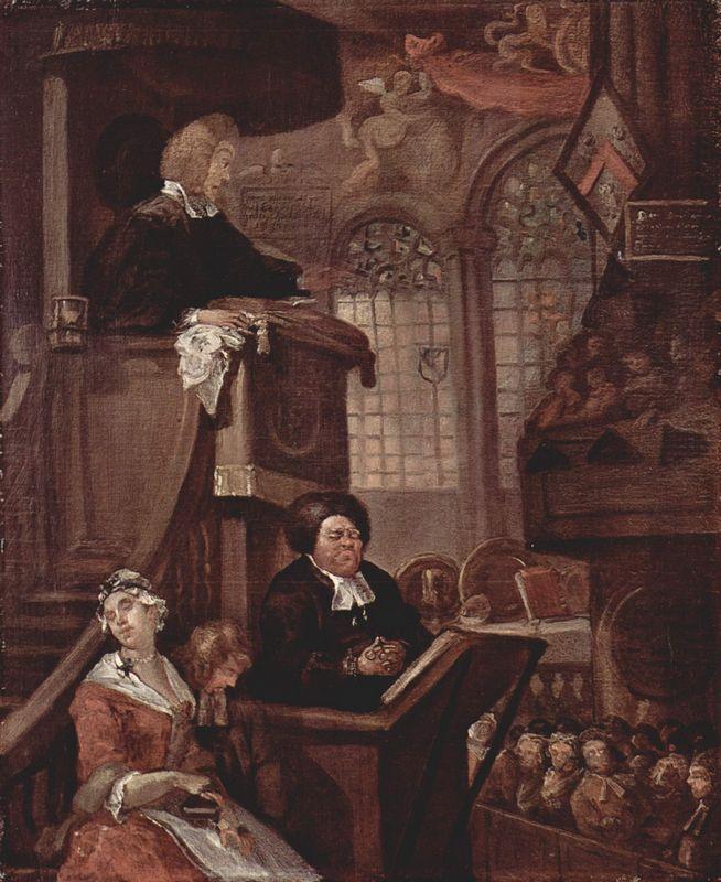 The sleeping church - William Hogarth