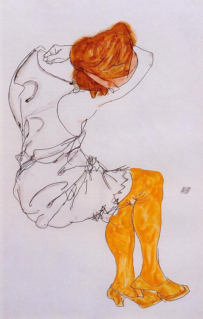 The sleeping girl - Egon Schiele