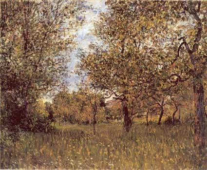 The Small Meadow at By - Alfred Sisley