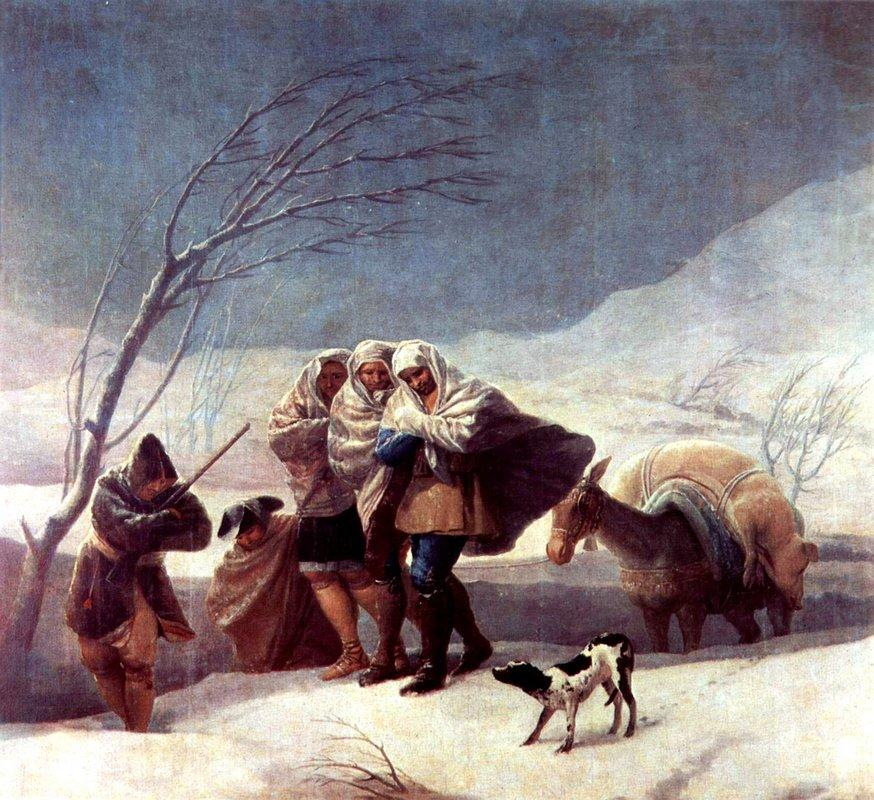 The Snowstorm (Winter) - Francisco Goya