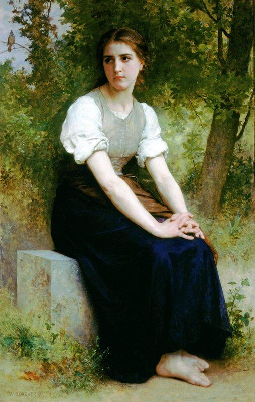 The Song of the Nightingale - William-Adolphe Bouguereau
